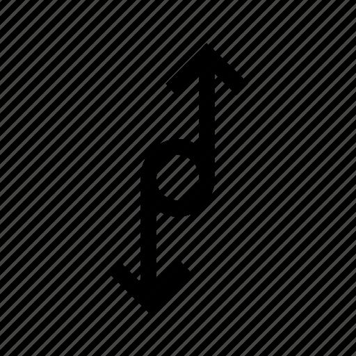 arrow, arrows, connection, dpwn, up, way icon