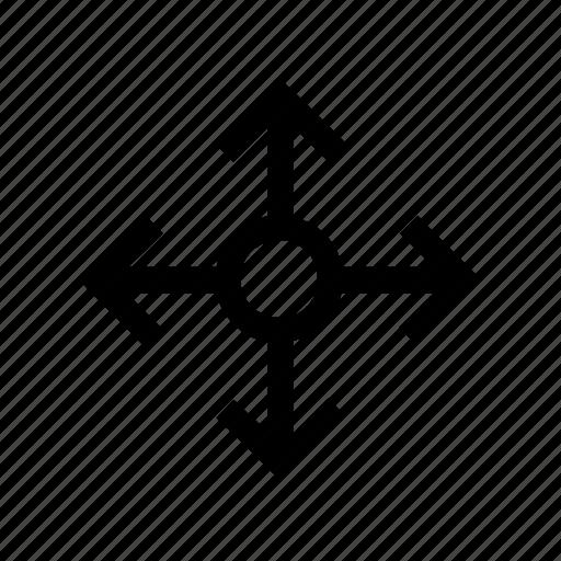 arrow, arrows, connection, connector, crossing, node, way icon