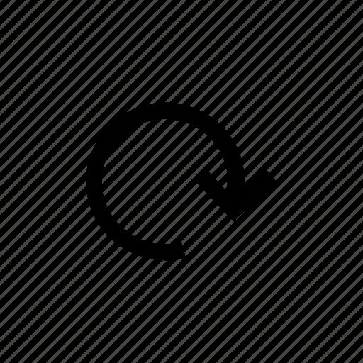 arrow, arrows, circle, down, loop, round icon