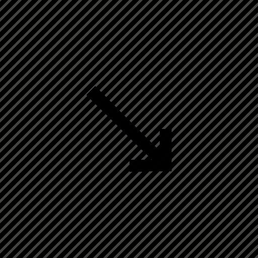 arrow, arrows, down, sign icon
