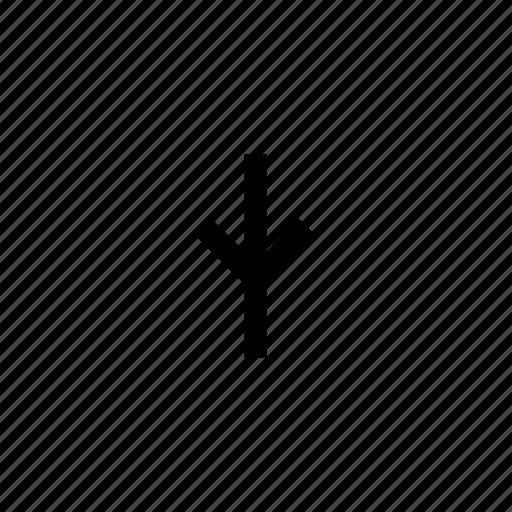 arrow, arrows, down, sign, traffic icon