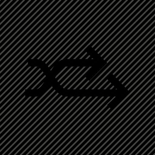 arrow, arrows, connect, connection, cross, left, merge icon