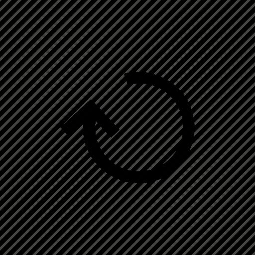 arrow, arrows, circle, loop, round, up icon