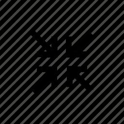 arrow, arrows, foer, minimize, resize, small, way icon