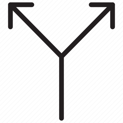 2 ways, arrow, arrows, crossroad icon icon