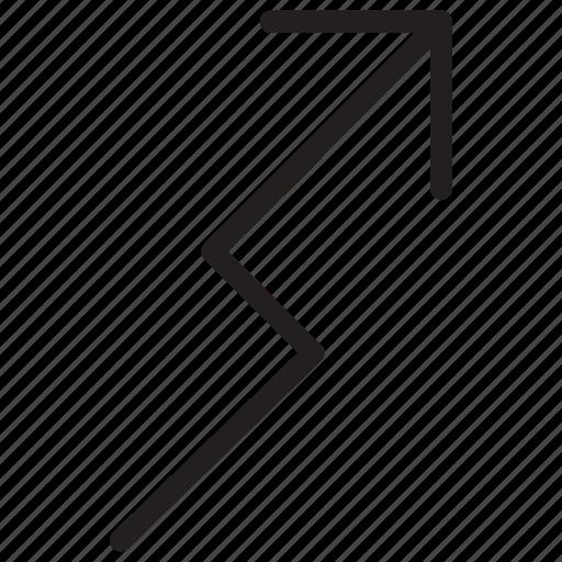 arrow, arrows, curved icon icon