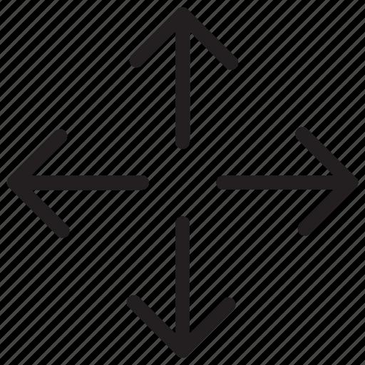 arrow, arrows, direction, move, navigation icon icon