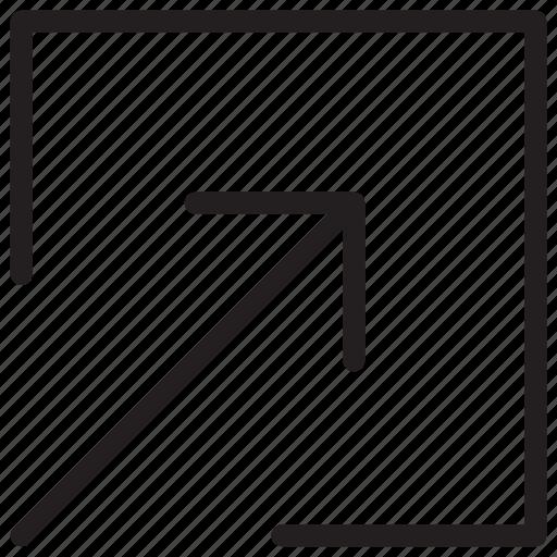 arrow, arrows, maximize icon