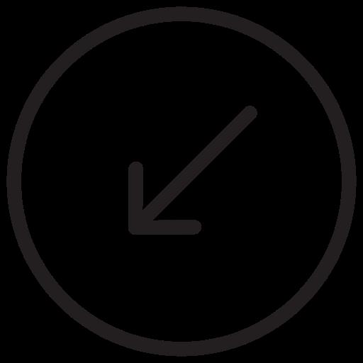 arrow, arrows, down, left icon icon