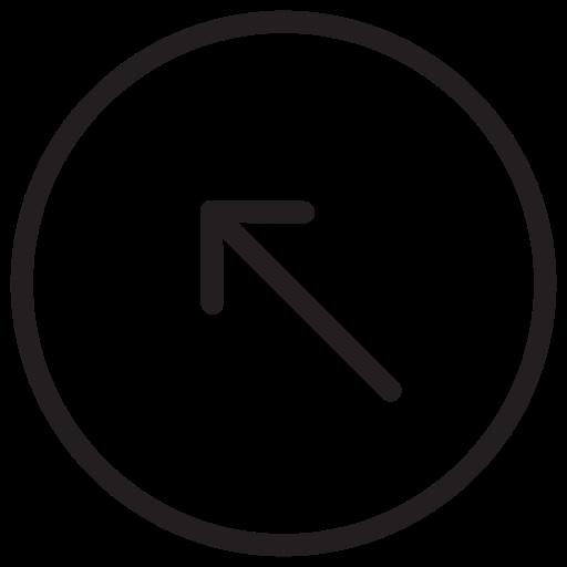 arrow, arrows, left, top icon