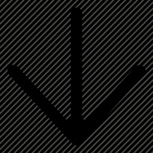 arrow, arrows, bottom, down icon