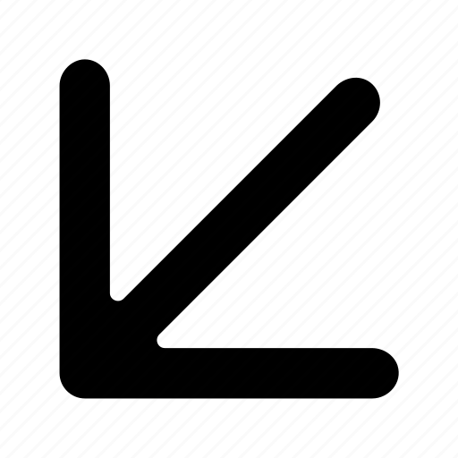 arrows, bottom, diagonal, left icon