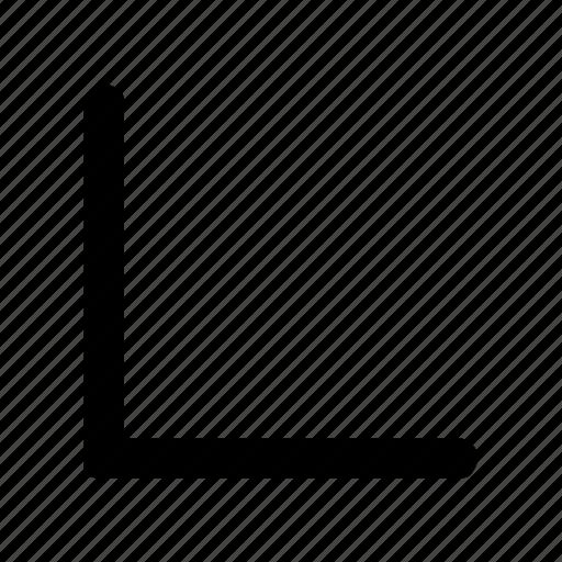 arrows, bottom, corner, left, rounded icon