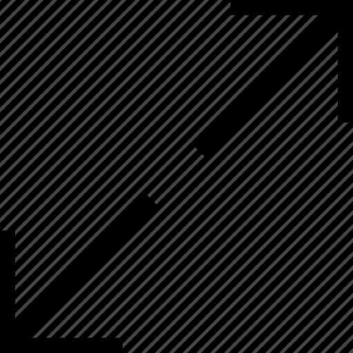arrows, enlarge, expand, fullscreen, maximize, resize, stretch icon