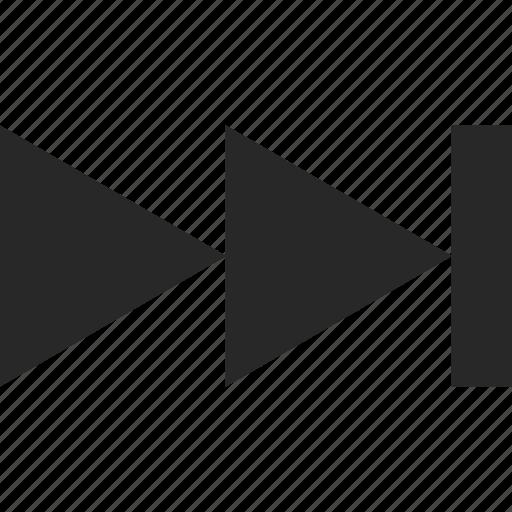 arrow, direction, forward, next, play, pointer, right icon