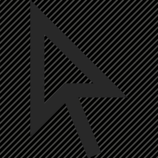arrow, click, cursor, direction, mouse, pointer icon