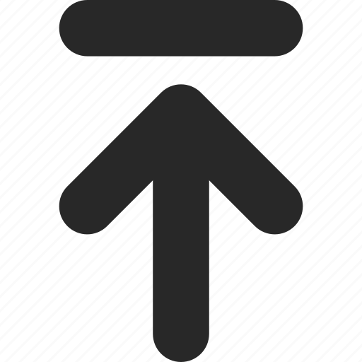 arrow, direction, go, pointer, top, up, upload icon