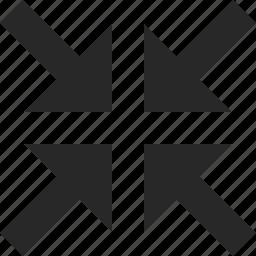 arrow, center, cross, direction, four, pointer icon