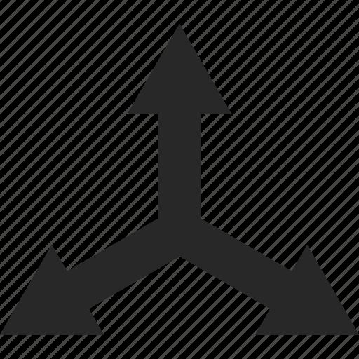 arrow, center, cross, direction, pointer icon
