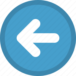 arrow, direction, left, pointer, previous icon