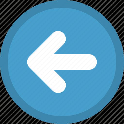 arrow, direction, left, pointer, previous icon