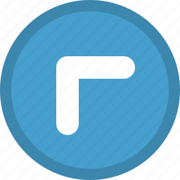 arrow, direction, left, pointer, top icon