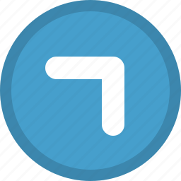 arrow, direction, pointer, right, top icon