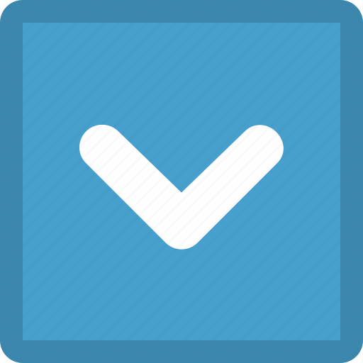arrow, bottom, direction, down, download, pointer icon