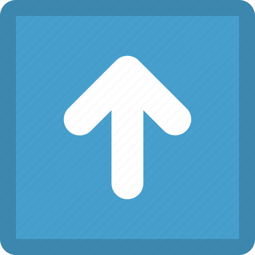 arrow, direction, pointer, top, up, upload icon