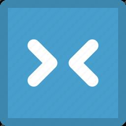 arrows, direction, inwards icon