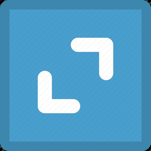 arrows, diagonal, direction, outwards icon