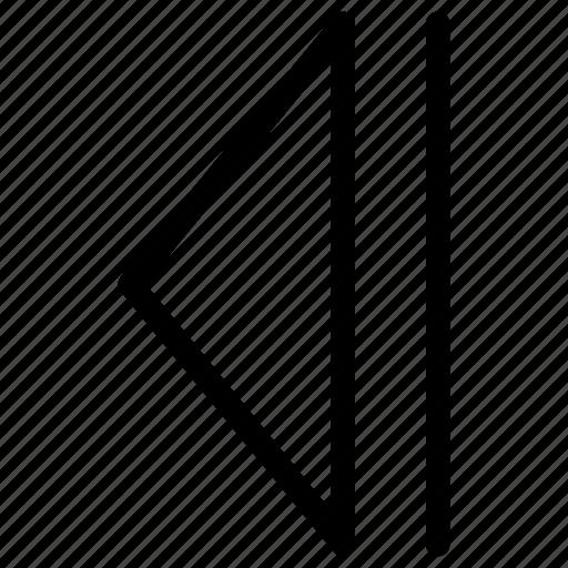 arrow, arrows, back, chart, creative, diagram, direction, graph, grid, left, line, previous, shape icon