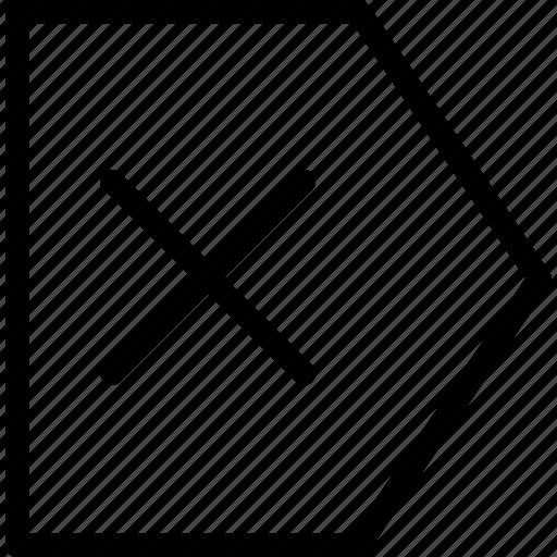 arrow, arrows, chart, creative, grid, left, line, pointer, shape, x icon
