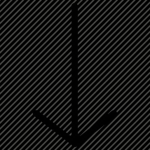 arrow, arrows, creative, down, grid, keyboard, line, move, shape icon