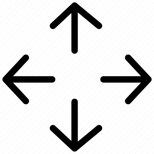 arrow, arrows, creative, display, full, grid, line, monitor, screen, shape, television, tv icon