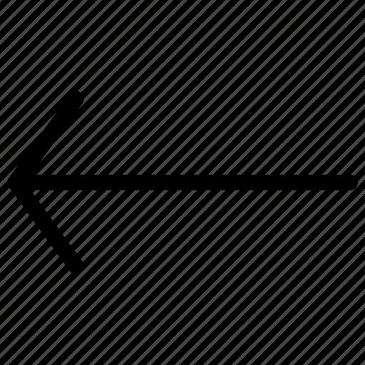 arrow, arrows, back, creative, grid, left, line, pointer, previous, shape icon