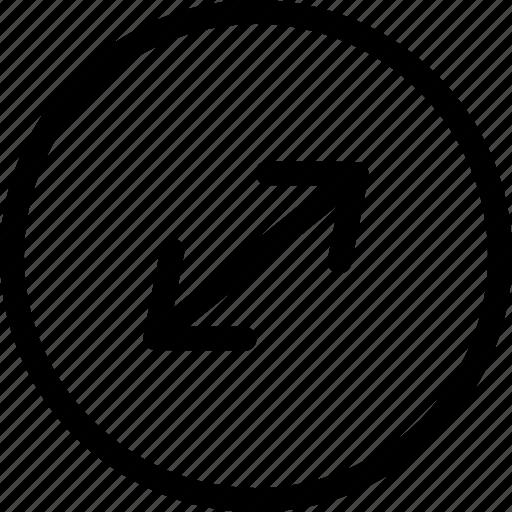 fullscreen, resize, resize arrows icon