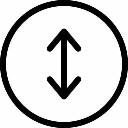 arrows, north, south, swipe, top down, vertical swipe icon