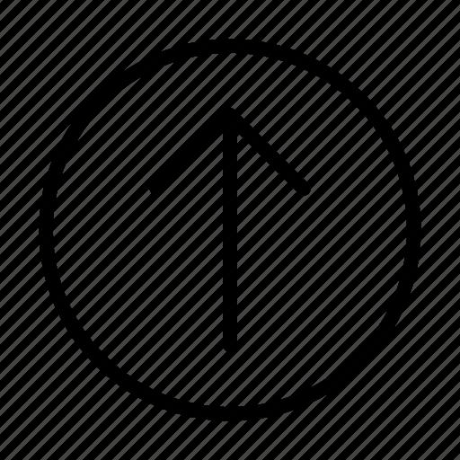 arrow, up, way icon