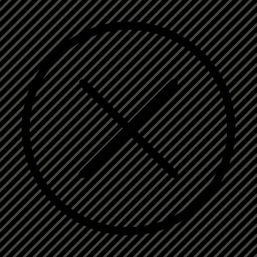 arrow, close, way, x icon