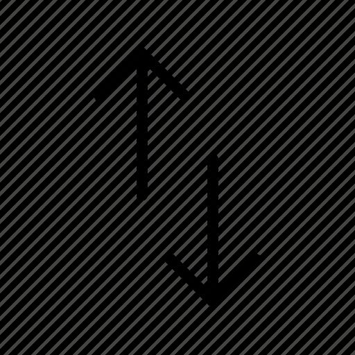 arrow, up down, way icon