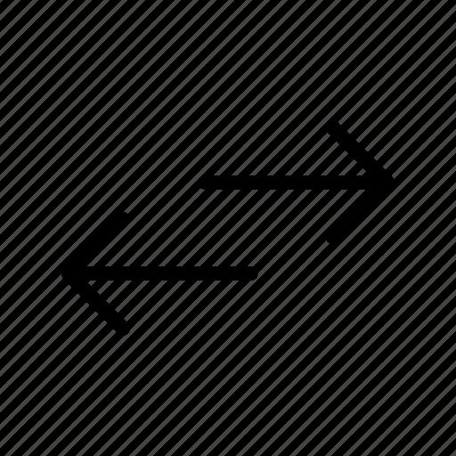 arrow, cross, left right, way, wrong way icon