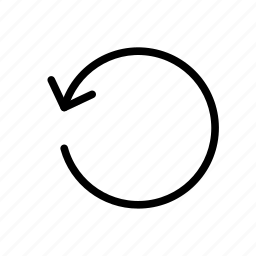 arrow, rotate, way icon