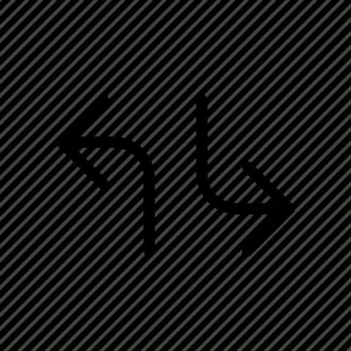 arrow, different, way icon