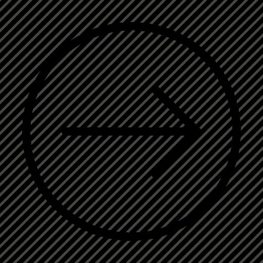 arrow, right, way icon