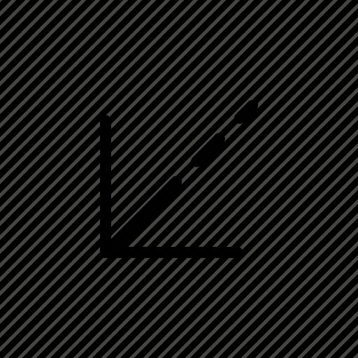 arrow, bottom left, way icon