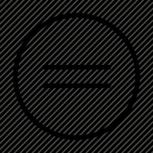 arrow, equal, way icon