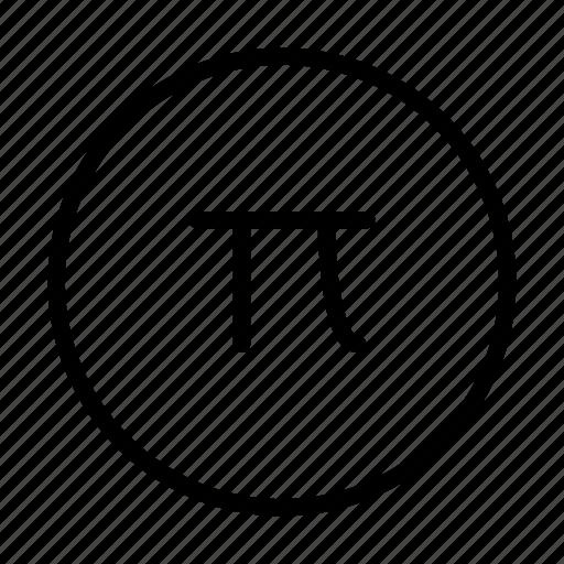 arrow, math, pi, way icon