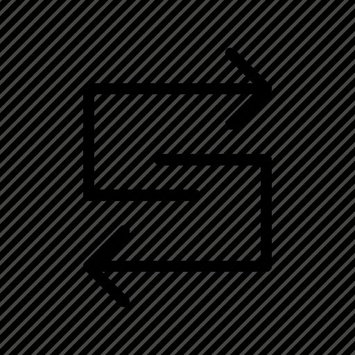 arrow, complicated, corelation, way icon