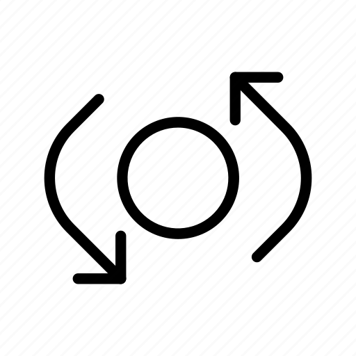 arrow, cross road, rotate, way icon